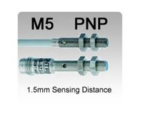 Picture for category M5 DC 3 wire PNP Miniature Inductive Proximity Sensors