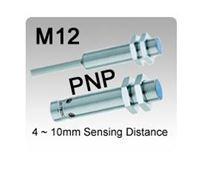 Picture for category M12 DC 3 wire PNP Inductive Proximity Sensors