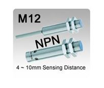 Picture for category M12 DC 3 wire NPN Inductive Proximity Sensors