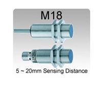 Picture for category M18 Inductive Proximity Sensors, 5~20mm Sensing Range