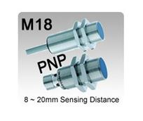 Picture for category M18 DC 3 wire PNP Inductive Proximity Sensors