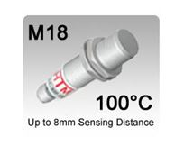 Picture for category M18 100°C High Temperature Stainless Steel PTFE Inductive Proximity Sensors
