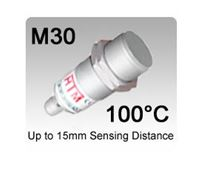 Picture for category M30 100°C High Temperature Stainless Steel PTFE Inductive Proximity Sensors