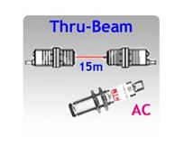 Picture for category M18 Tubular Body AC Thru-beam Photoelectric Sensors