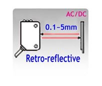 Picture for category 18x62x35mm Compact AC/DC Retro-reflective Photoelectric Sensors