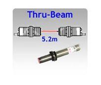 Picture for category M12 Tubular Body Thru-beam Photoelectric Sensors, 5.2m Sensing Range