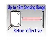 Picture for category Retro-reflective Photoelectric Sensors, Up to 5.5 Meters Sensing Range