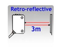 Picture for category 11.2x31x20mm World Standard Retro-reflective Photoelectric Sensors