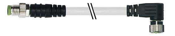 7000880212100200, M8 3 Pole Extension Standard PVC Pico Cables