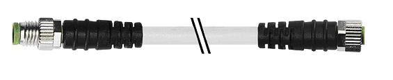7000880112110100, M8 4 Pole Extension Standard PVC Pico Cables