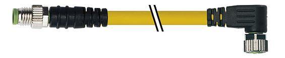 7000880310110100, M8 4 Pole Extension Standard PVC Pico Cables