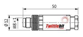 7000086110000000, M8 male connector