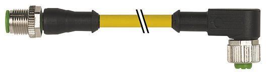 7000401210141000, M12 4 Pole Extension Standard PVC Micro Cables