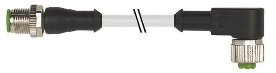 7000401212141000, M12 4 Pole Extension Standard PVC Micro Cables