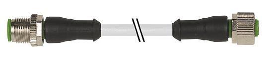 7000400412150200, M12 5 Pole Extension Standard PVC Micro Cables