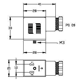 VBJ02900, AC/DC Form B (10mm) Valve Plugs