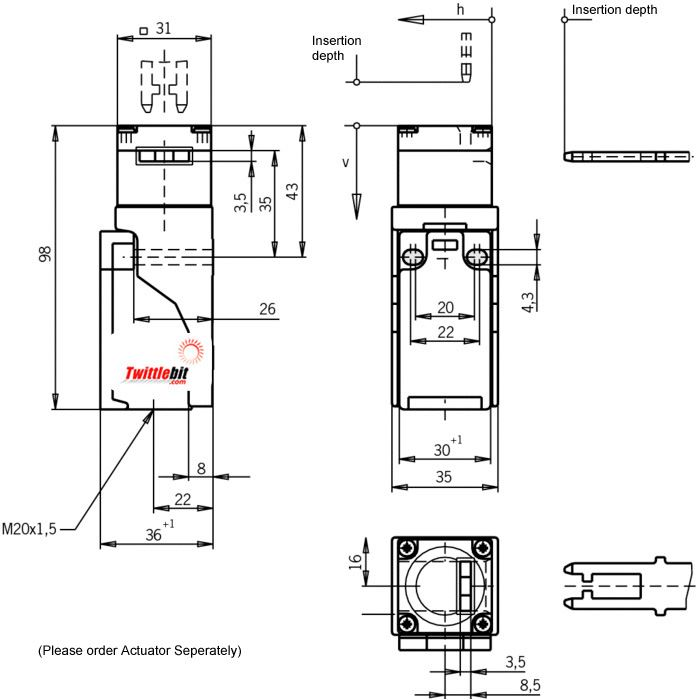 NP1628ASM, NP Safety Gate Switch