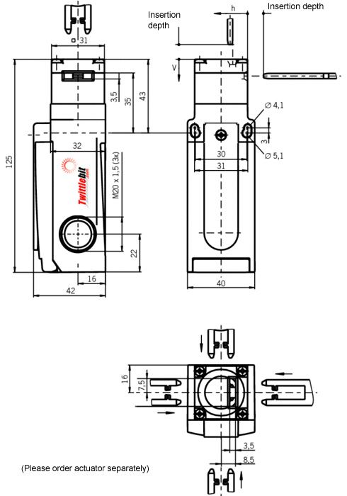 GP1528AM, GP Safety Gate Switch