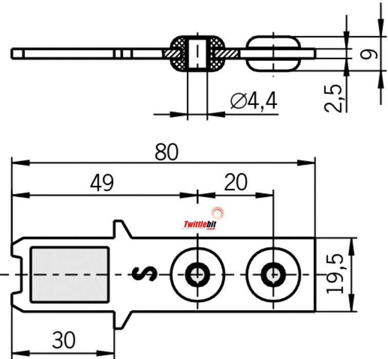95738, Actuators for STM/STA/STP/STM Solenoid Interlock Gate Switches