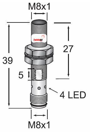 OCN10802NARS4, M8 DC 3 wire NPN OEM Value Line Inductive Proximity Sensors