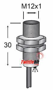 ECM11204CA2S2, M12 AC/DC 2 wire Inductive Proximity Sensors