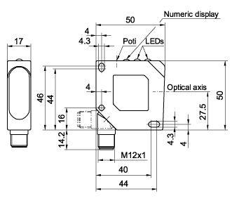 FR50R-PAL4, Compact Size Retro-reflective Photoelectric Sensors