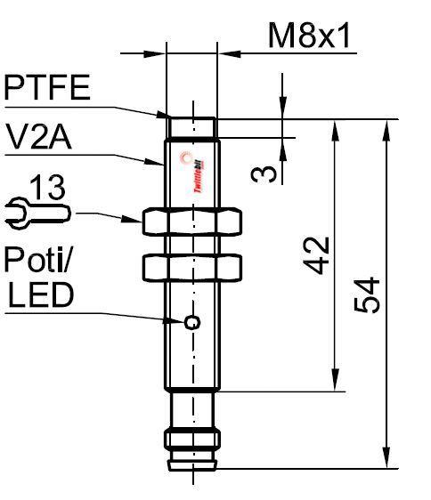 Sensopart KL08NB-PSM3, Capacitive Sensor