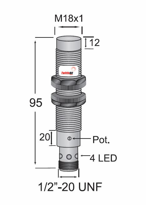 CCP21815AAUL3, Quick Disconnect, Unshielded AC 2 wire M18 Capacitive Proximity Sensors
