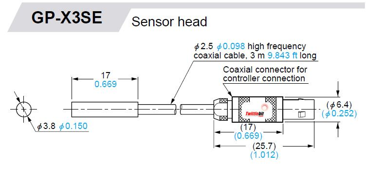 GPXC3SE, Non-threaded, Self Contained Inductive Measurement Sensors