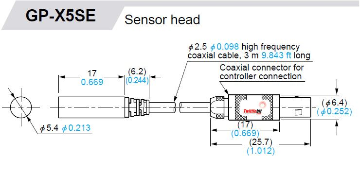 GPXC5SEP, Non-threaded, Self Contained Inductive Measurement Sensors