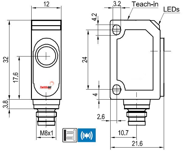UT20150NSM4, World Standard F2x Ultrasonic Sensors