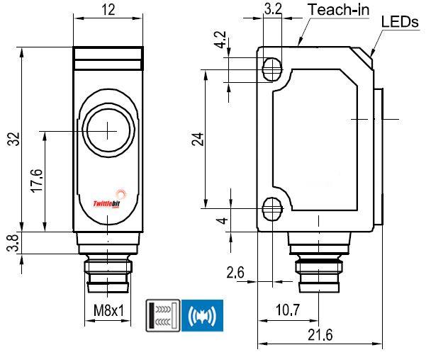UT20240PSM4, World Standard F2x Ultrasonic Sensors