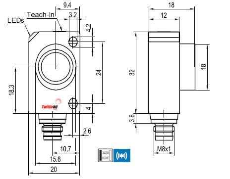 UT20700PSM4, World Standard F2x Ultrasonic Sensors