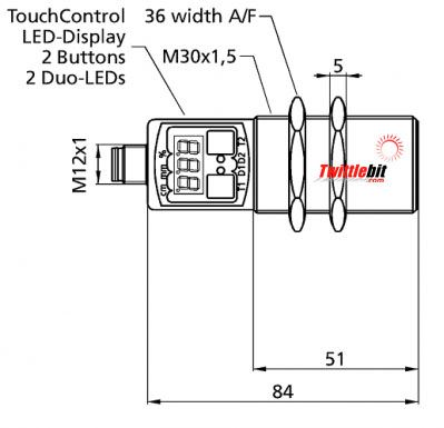 UMT301300PSDL5, M30 Ultrasonic Sensors