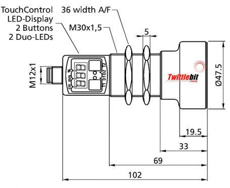 UMT3034002PSDL5, M30 Ultrasonic Sensors