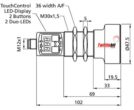 UMT303400AIUDL5, M30 Ultrasonic Sensors