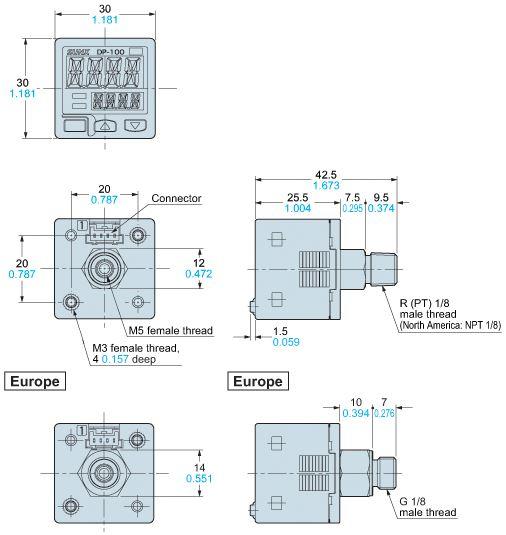 DP101NP, PNP output type Vacuum Sensors