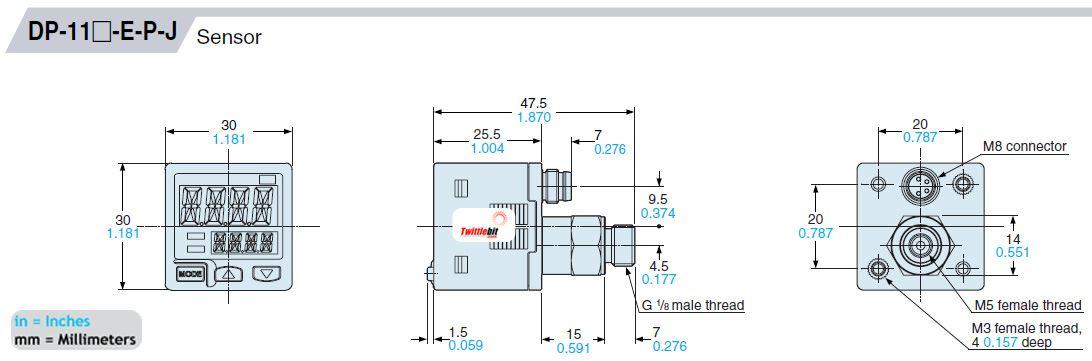 DP112AEPJ, PNP output type Pressure Sensors