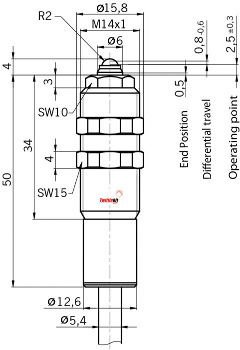 EGT1 4A5000, M14 ~ M18 Tubular Position Switches