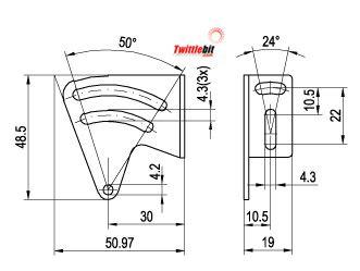 MSF50, Mounting bracket set for F50 series