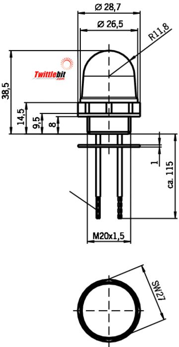 LEDM20x1.5, Accessories for Rope Pull Switch
