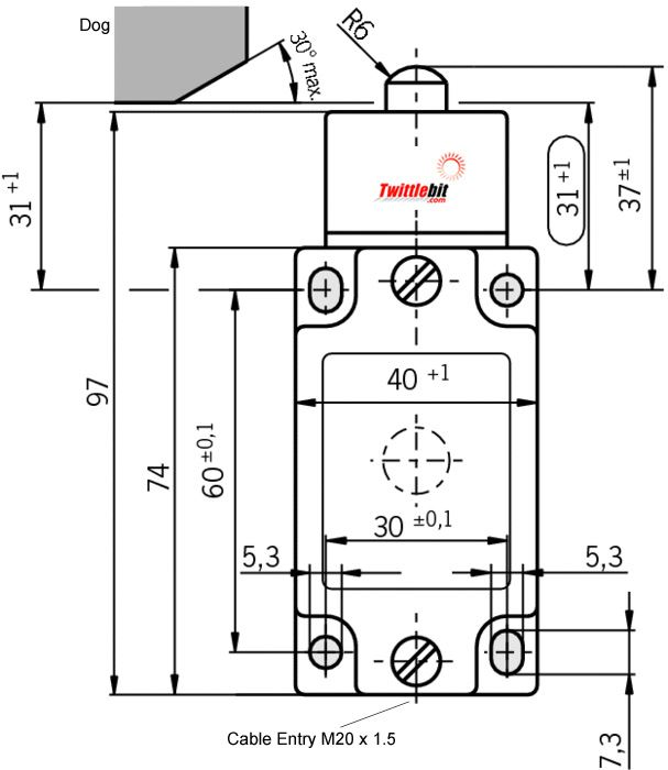 NZ1WO528M, NZ1WO Safety Limit Switch with Domed Plunger