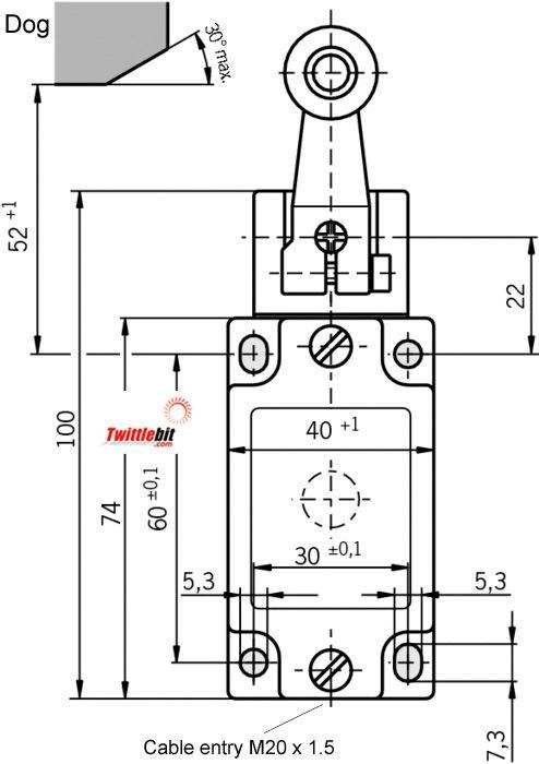 NZ1HS-3131-M, Euchner Safety Limit Switch
