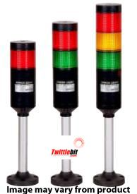 PTE-AF-4FF-RYGB-B, 90~240VAC 56mmø LED Modular Pole Mounted PTE-A Series Steady or Flashing Tower Lights