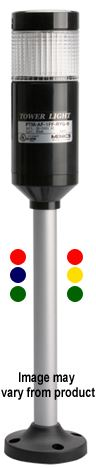 PTMA1FFRBGB, 90~240VAC Pole Mounted Tri Color LED Steady or Flashing Tower Lights