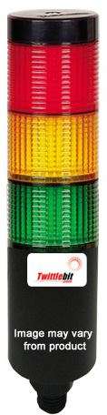PTESCF302RYGBP, 24VAC/DC 56mmø LED Modular Surface Mounted PTE-S Series Steady or Flashing Tower Lights