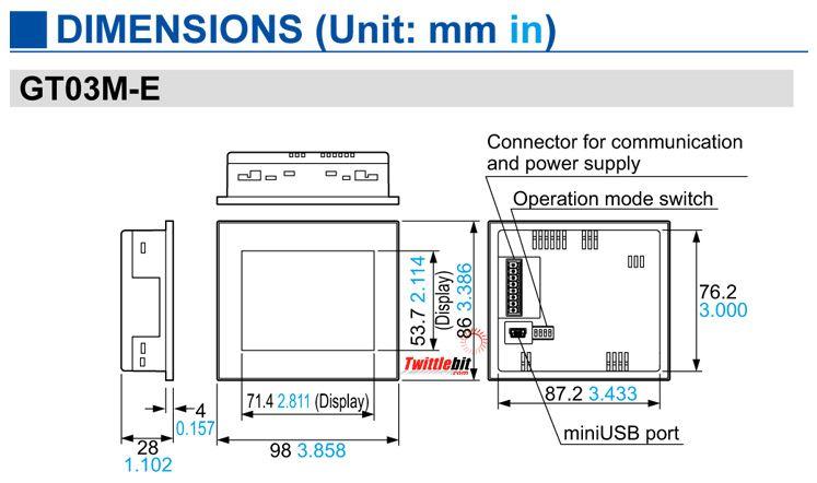 """AIG03MQ05DE, 3.5"""" GT03-E HMI Operator Interface"""