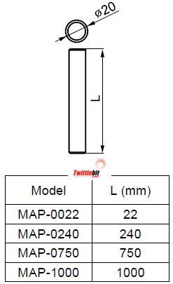 MAP0750, Mounting Poles for Individual Warning & Tower Lights