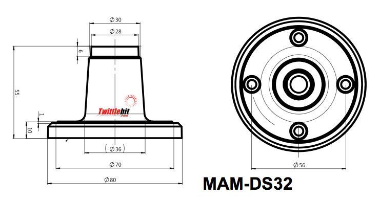 Menics MAM-DS32, Aluminum Base