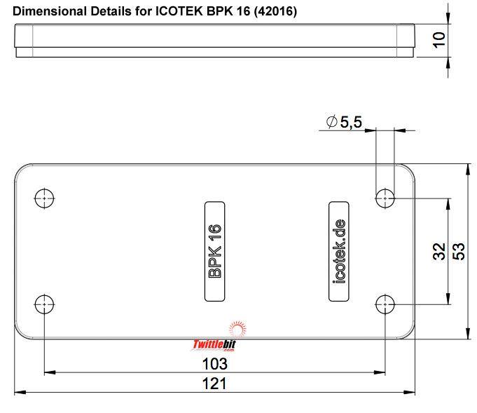 42016, Icotek Blind Plates